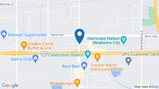 Howard Johnson by Wyndham Oklahoma City Airport/ Fairgrounds Map