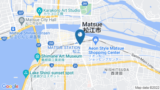 Matsue Ekimae Universal Hotel Map