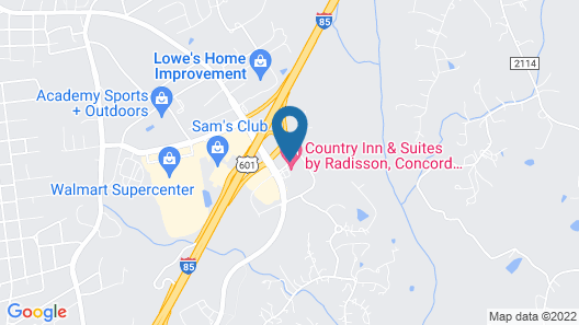Country Inn & Suites by Radisson, Concord (Kannapolis), NC Map