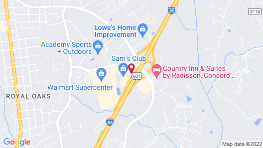 Holiday Inn Express Hotel & Suites Concord, an IHG Hotel Map