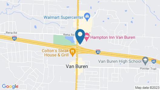 Hampton Inn Van Buren Map