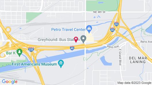 Motel 6 Oklahoma City, OK - Bricktown Map