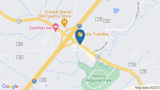 Super 8 by Wyndham Athens Map