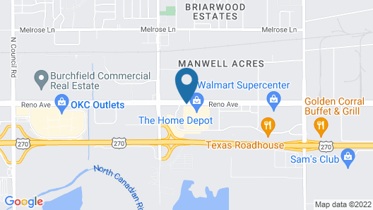 Homewood Suites by Hilton Oklahoma City-West Map