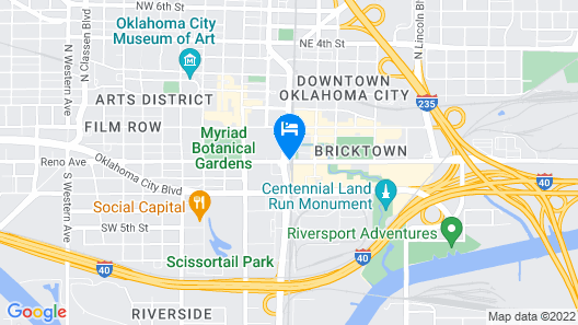 Courtyard by Marriott Oklahoma City Downtown Map