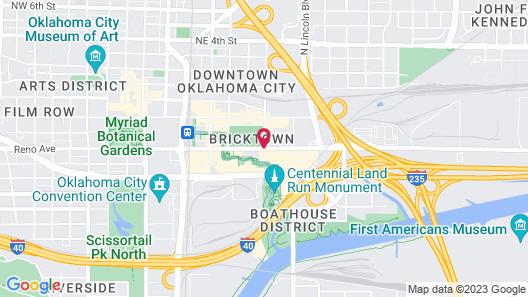 Residence Inn by Marriott Oklahoma City Downtown/Bricktown Map