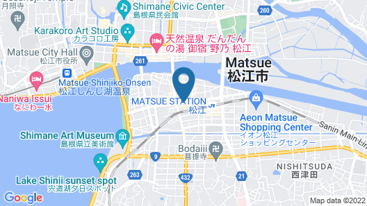 Green Rich Hotel Matsue Ekimae Map
