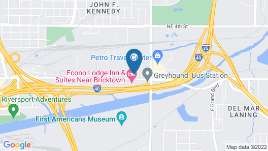 Comfort Inn & Suites Oklahoma City near Bricktown Map