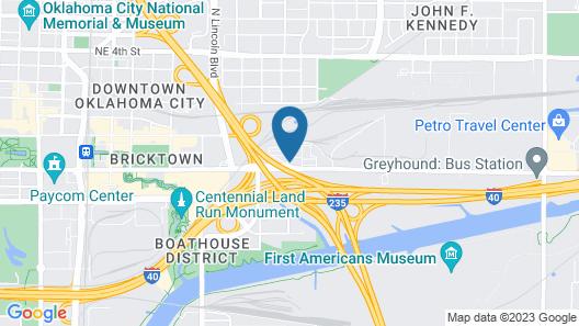 Candlewood Suites Oklahoma City - Bricktown, an IHG Hotel Map