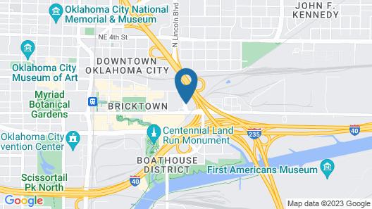 Staybridge Suites Oklahoma City Dwtn - Bricktown Map