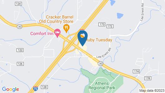 Hampton Inn Athens Map