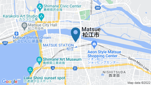 Matsue Excel Hotel Tokyu Map