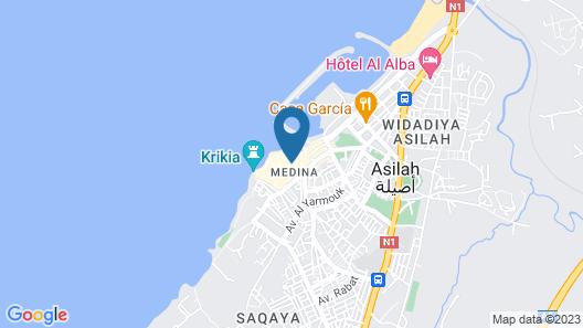 Riad Bleu Ocean Ancienne Medina Map