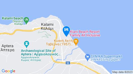 Kiani Beach Resort Family - All Inclusive Map