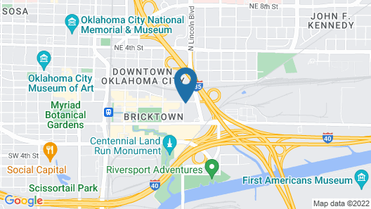 SpringHill Suites by Marriott Oklahoma City Downtown Map