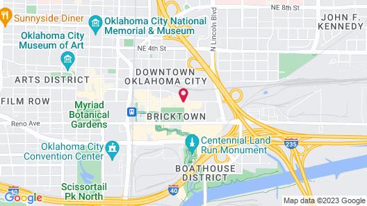 Hilton Garden Inn Oklahoma City Bricktown Map