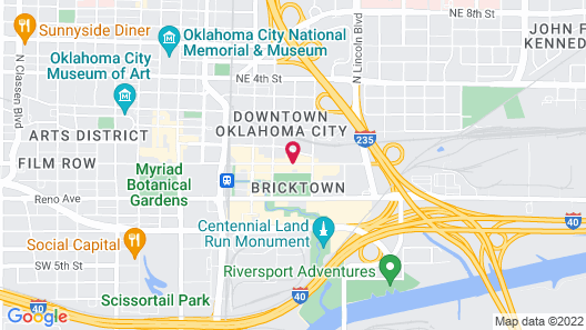 Hampton Inn & Suites Oklahoma City-Bricktown Map