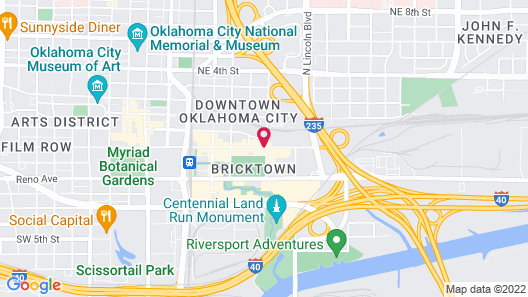 Hilton Garden Inn Oklahoma City Bricktown Map