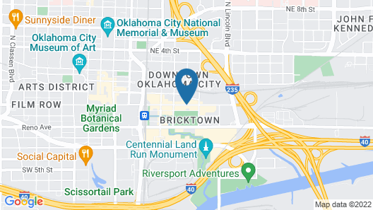 Homewood Suites by Hilton Oklahoma City - Bricktown, OK Map