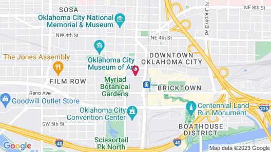Sheraton Oklahoma City Downtown Hotel Map