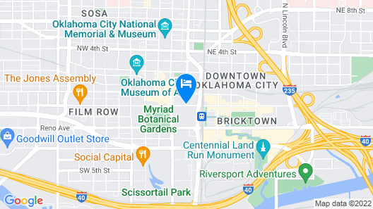 Sheraton Oklahoma City Downtown Hotel Map