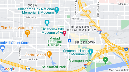 Wyndham Grand Oklahoma City Downtown Map