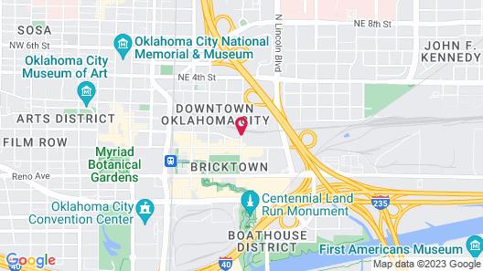 Hyatt Place Oklahoma City / Bricktown Map
