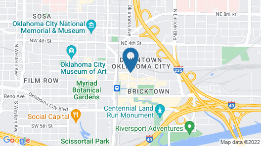 Holiday Inn Express & Suites Oklahoma City Dwtn - Bricktown Map