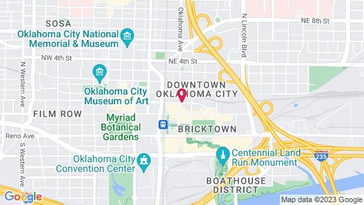 Holiday Inn Express & Suites Oklahoma City Dwtn - Bricktown, an IHG Hotel Map