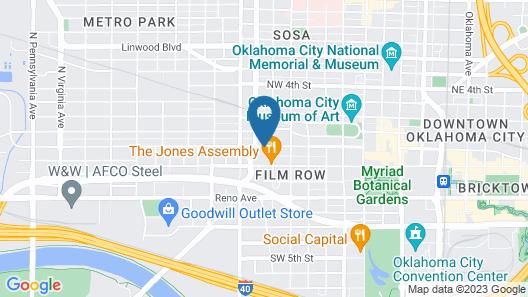 21c Museum Hotel Oklahoma City Map