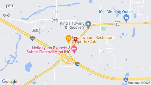 Sunset Inn Clarksville Map