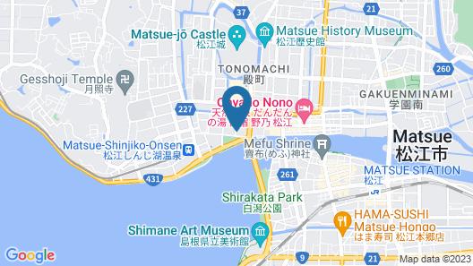 Matsue New Urban Hotel Honkan Map