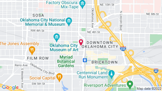 The Skirvin Hilton Oklahoma City Map