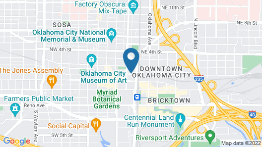 The Skirvin Hilton Oklahoma City Map