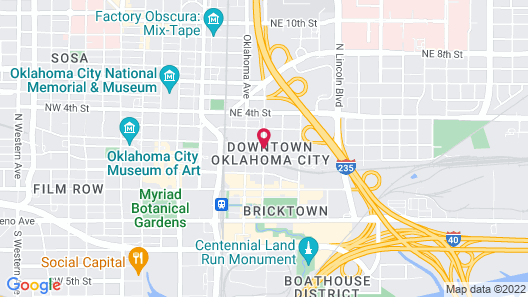 Aloft Oklahoma City Downtown - Bricktown Map
