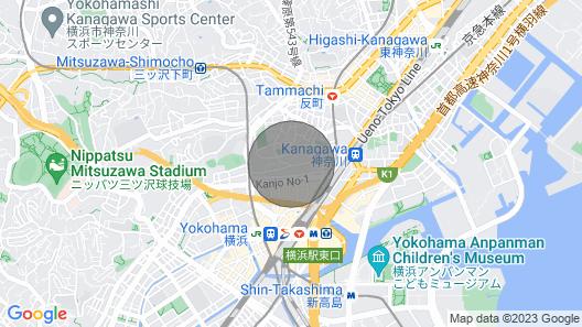 Stunning Room in Central Yokohama for Family Map