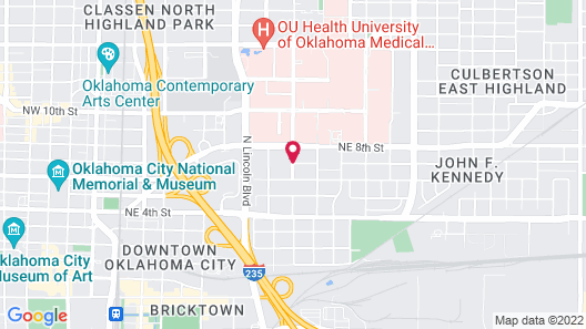 Embassy Suites Oklahoma City Downtown/Medical Center Map
