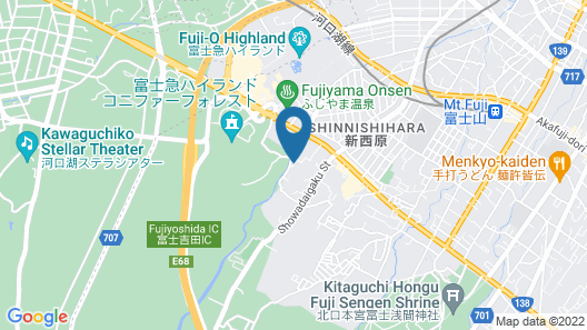 Kikkake Green and Mt.Fuji - Hostel Map
