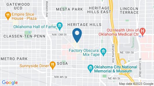 Ambassador Hotel Oklahoma City, Autograph Collection Map