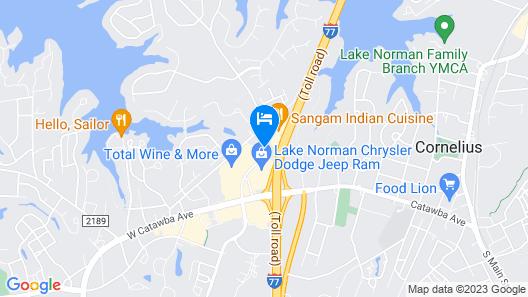 Microtel Inn by Wyndham Cornelius/Lake Norman Map