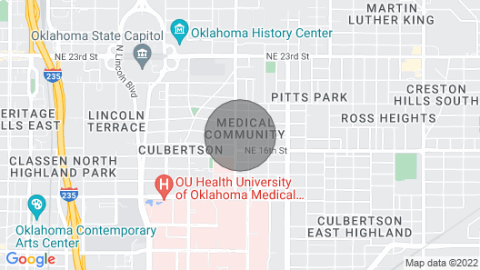Blue Door Place II . By OU Medical ,state Capitol, Bricktown, Downtown Map