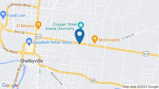 Best Western Shelbyville Inn and Suites Celebration Inn Map