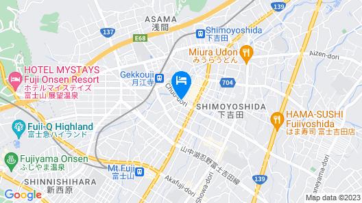 Mt Fuji Hostel Michael's Map