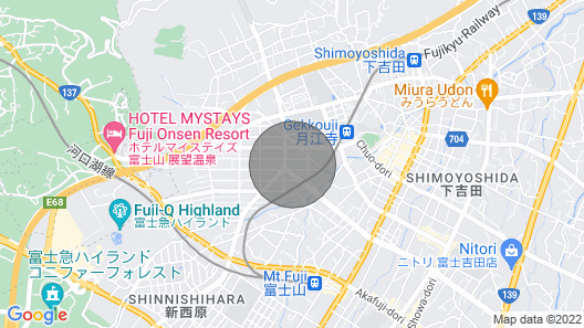 Fujiyama Yui Apartment 101 / Fujiyoshida Yamanashi Map