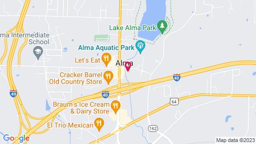 Motel 6 Alma, AR Map
