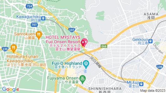HOTEL MYSTAYS Fuji Onsen Resort Map