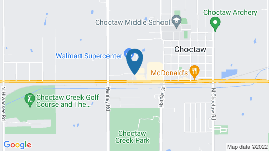 Best Western Plus Choctaw Inn & Suites Map