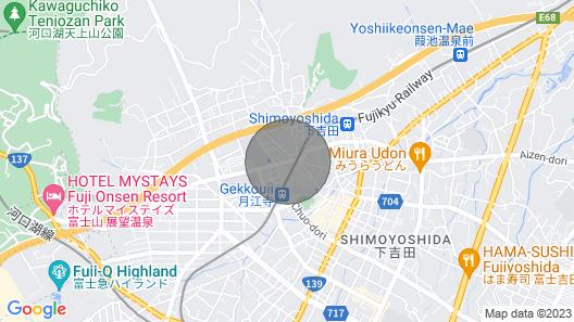 ViewMt.Fuji, near Lake Kawaguchi,Long Stay Weclome Map