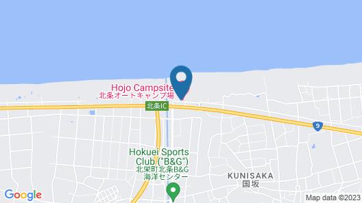 Houjo Auto Campsite - Campsite Map