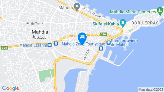Dar El Amen Map